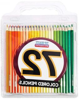Colored Pencil Set with Case, 7-Inch, Pack of 72 by Top Qual