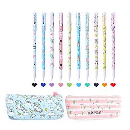 Perfect Unicorn Gifts,10 Pcs Unicorn Flamingo Gel Pens Set