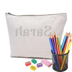 Personalised Crystal Pencil Case Accessory Cotton bag for An