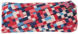 ZIPIT Pixel Pencil Case/Cosmetic Makeup Bag, Blue and Red ZT