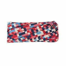 ZIPIT Pixel Pencil Case/Cosmetic Makeup Bag, Blue and Red