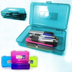 Plastic Pencil Box Case Kids School Office Suppliies Pen Art