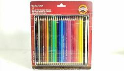 Koh-I-Noor Polycolor Drawing Pencil Set, 24 Assorted Colored