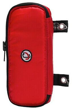 Case-it The Pouch Zippered Pencil Case with Grommets, Red, P