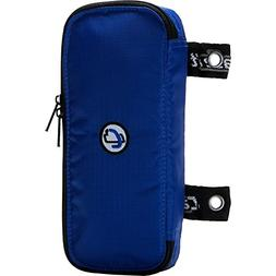 Case-it The Pouch Zippered Pencil Case with Grommets, Blue,