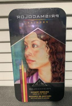 Prismacolor Premier 36 Colored Pencils New In Metal Tin Prot