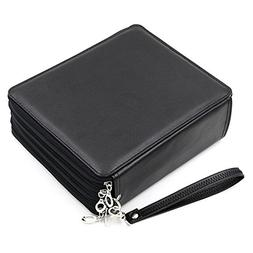 168 Slot PU Leather Pencil Case 4 Layer Large Capacity Penci