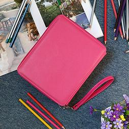 YOUNGCOL 168 Slot PU Leather Pencil Case 4 Layer Large Capac