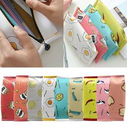 PU Pencil Case Cosmetic Pouch Stationery Storage Makeup Pen
