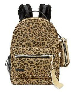 Steve Madden Rascal Backpack With Pencil Case - Leopard/gold