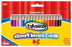 RoseArt 3.5-Inch Mini Colored Pencils Assorted Colors 24-Cou