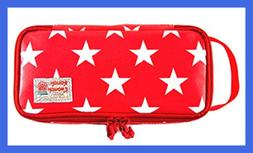 Rough Enough Glossy Canvas Star LARGE Pencil Case Tool Pouch