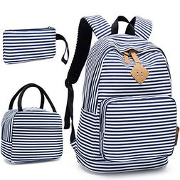 BLUBOON School Backpack for Girls Canvas Bookbag College Lap 6ad23c673e176
