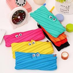 Schoolsupplies 2pcs Cute Cartoon Canvas Big Eyes Monster Pen