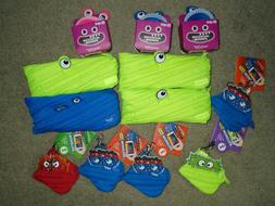 Set of 12 Assorted ZIPIT Monsters Pouches Pencil Cases Green