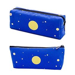 Funny live Set of 2,Blue Starry Large-Capacity Pencil Case M