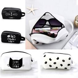 Silicone Cat Makeup Cosmetic Case Pen Pencil Bag Zipper Coin