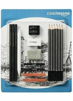 AmazonBasics Sketch and Drawing Pencil Set - 17-Piece