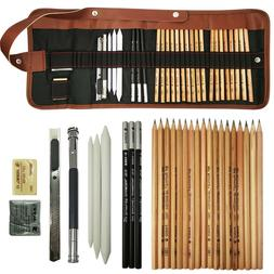 29pcs Sketching Art Supplies Set Drawing Artist Graphite Pen