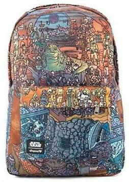 Loungefly Star Wars Jabba's Palace Print Nylon Backpack and