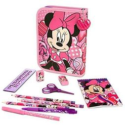 Disney Store Minnie Mouse Stationary Art Case Kit School Sup
