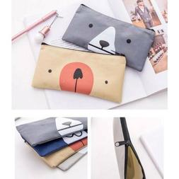 Student Cartoon Bear Oxford Pen Pencil Case Portable Pouch M