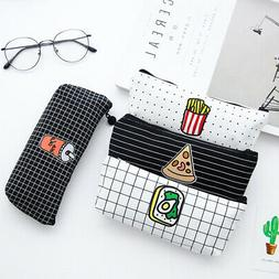Student Pencil Pouch Bag Case Pen Stationery Storage Bag Box