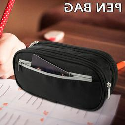 Students Pen Bag Pencil Case Zip Cosmetic Journey Large Capa