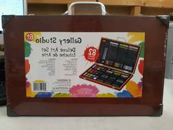 Gallery Studio 82 Piece Deluxe Art Set in Wooden Case - NEW