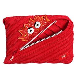 ZIPIT Talking Monstar Big Pencil Case, Red