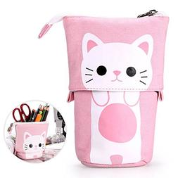 Telescopic Pencil Pouch Standing Pen Holder Cute Pencil Bags