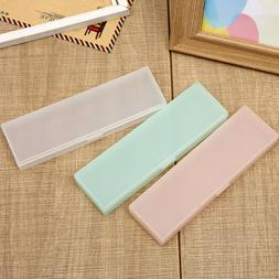Transparent Frosted Large Capacity Pen Box Pencil Case Stati