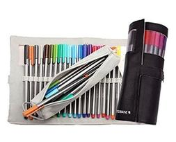 Staedtler Triplus Fineliners 20 Assorted Colours with Pencil