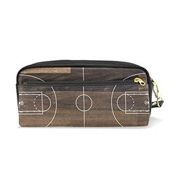 U LIFE Basketball Court Sports Pencil Holders Case Box Cosme