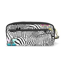 U LIFE Cute Zebra Striped Black And White Animal Pencil Hold