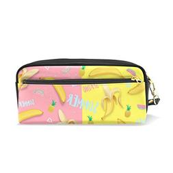 U LIFE Summer Spring Banana Pencil Holders Case Box Cosmetic