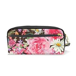 U LIFE Vintage Floral Flowers Spring Pencil Holders Case Box