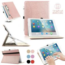 Slim Protective ipad Case Sleep/Wake Cover with Pencil Holde