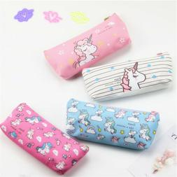 Unicorn Make Up Bags Cosmetic Pencil Case Printed Travel Gir