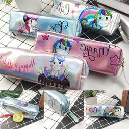 Unicorn Pencil Case Pen Box School Stationery Cosmetic Makeu