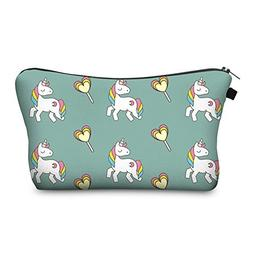 Bonamana Unicorn Large Capacity Pencil Case Toiletry Bag Cos