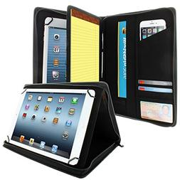 KHOMO Universal Tablet Padfolio Zippered Case for 8.5'' up t