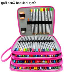 US 184 Slots Pencil Case Organizer Foldable Pen Storage Box