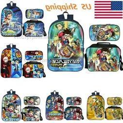 US BEYBLADE BURST Backpack Insulated Lunch Bag Pencil Case 3