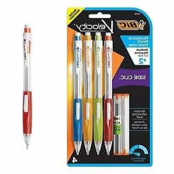 BIC Velocity Side Clic Mechanical Pencil, 4-Pack