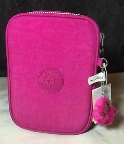 Kipling Very Berry Pink 100 Pens Pencil Cosmetic Makeup Case