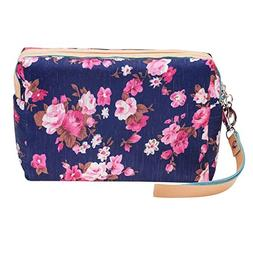 Washable And Durable, Navy Blue Nylon Beauty And Make Up Cos