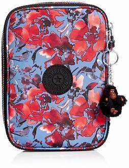 Kipling womens 100 Pens Case Festive Floral One Size New