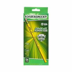 Ticonderoga Wood-Cased Graphite Pencils, #2 HB Soft, Yellow,