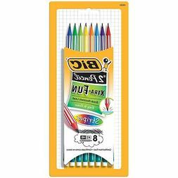 BIC Xtra-Fun Stripes #2 Pencil, 8-Pack